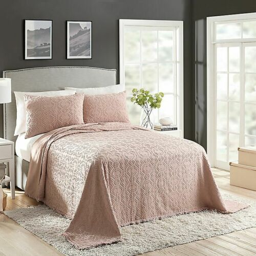 Twin Size Blush Avah Reversible Bedspread