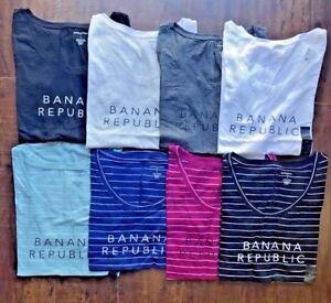 Banana-Republic-Women-Logo-Tee-Short-Sleeve-T-Shirt-S-M-L