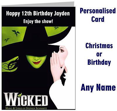 TINA TURNER MUSICAL Show Ticket Wallet Birthday Christmas Card gift London