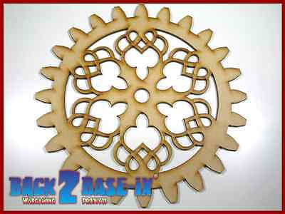 MDF Wooden Shapes Cogs 200mm High 3mm Thick Custom Cut x 3 pieces cog21