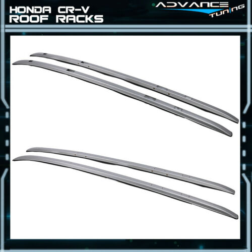 Fit 17-19 Honda CR-V OE Style Top Rail Roof Rack Cross Bar Cargo Carrier Silver