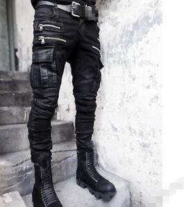 Punk-Gotico-para-Hombre-Chic-pelo-estilista-Hip-Hop-Pantalones-Largos-Pantalones-Informales-Club