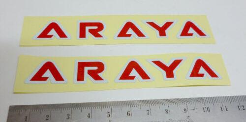 Nos Old School BMX Hub Decal Sticker for ARAYA Rim 7X C 36h 48h Red