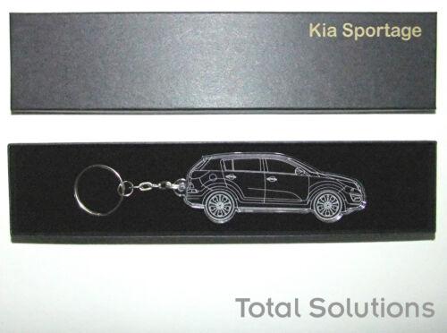 Acrylic Plastic Car Shape Keyring Laser Cut /& Engraved Kia Sportage