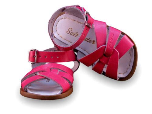 Fuchsia Patent Kids Saltwater Sandals