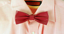 Hot Pink Leather Bow Tie - 100% real leather. Rare and Unique RRP £45.99