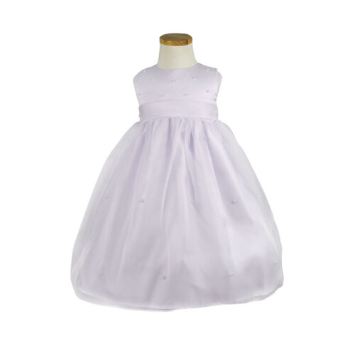NEW Girls Formal Dress Flower Girls Chiffon Party Dress Sz 000-16yrs White Creme