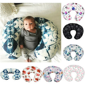Minky-Nursing-Newborn-Infant-Baby-Breastfeeding-Pillow-Cover-Floral-Slipcover-A