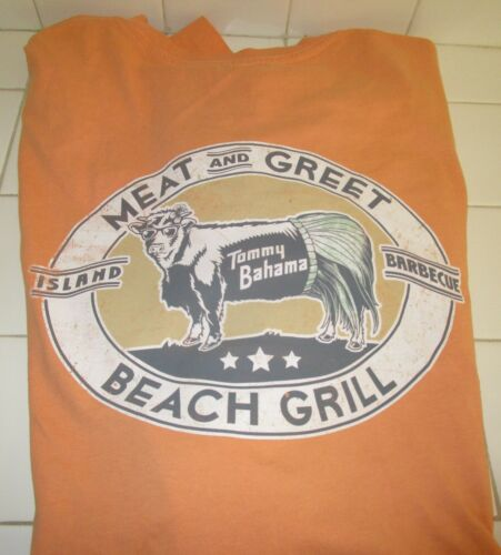 "TOMMY BAHAMA  /""MEAT /& GREET BEACH GRILL BAR-B-QUE /"" LG TANGERINE  BRAND NEW"