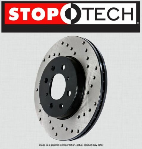 Stoptech SportStop Cross Drilled Brake Rotors STCDR44144 REAR LEFT /& RIGHT