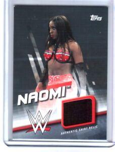 WWE-Naomi-2016-Topps-Divas-Revolution-Event-Used-Shirt-Relic-Card-40-of-50