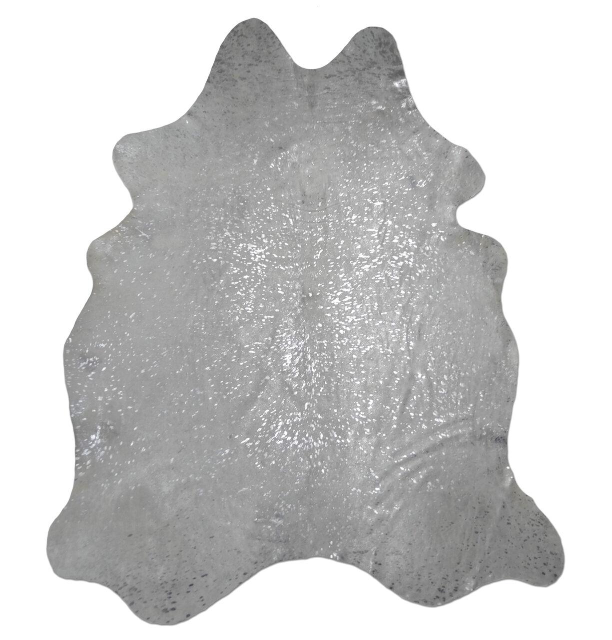 Peau rinderfell devore Gris cm, Clair Argent-environ 210 cm x 190 cm, Gris Rug, Neuf d2c052