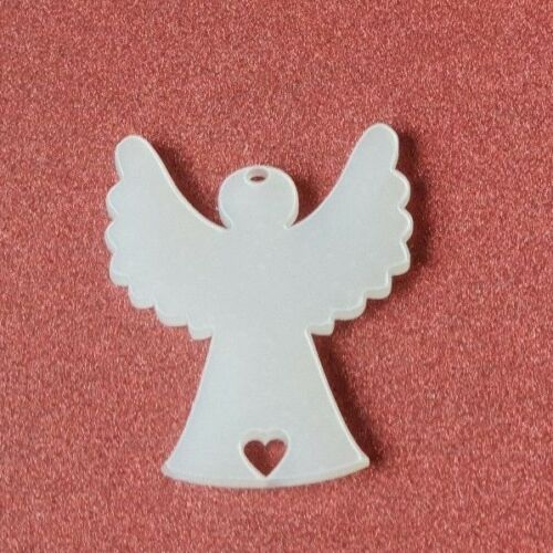 Laser Cut Frosted  Perspex Angels pack of 1 or 5 Christmas Nordic Rustic