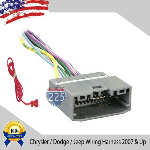 Car Stereo CD Player Wiring Harness Factory Radio Chrysler Dodge Jeep 2007 /& UP