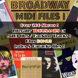 Broadway Midi & Karaoke Fichiers Midi-afficher Le Titre D'origine Prix De Rue