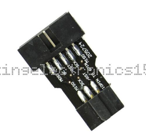 5PCS 10Pin Convert to 6Pin ISP Adapter Board For ATMEL AVRISP USBASP STK500