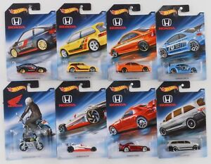 2017-Hot-Wheels-Honda-70-aniversario-FKD22-diecast-coches-Set-8-Surtido-1-64
