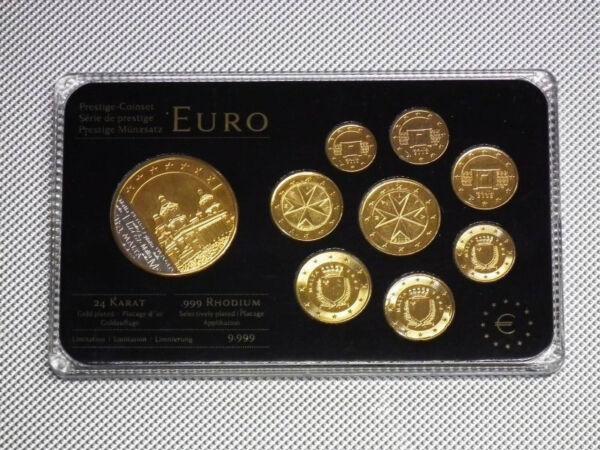 Charmant Kms Malte 24 Carat Doré Médaille Rhodium
