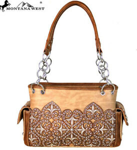 Image is loading Montana-West-Embroidered-Concealed-Carry-Satchel-Purse-2- 9b6c5f91050e0