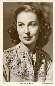 VALERIE HOBSON - PICTURE POST CARD SIGNED