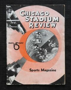1936 National Vélo Association 6-day Course Programme Chicago Stadium Blackhawks