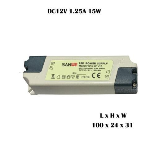 UK STOCK LED Driver Power Supply Transformer 240V 7W 15W 35W 60W DC 12V