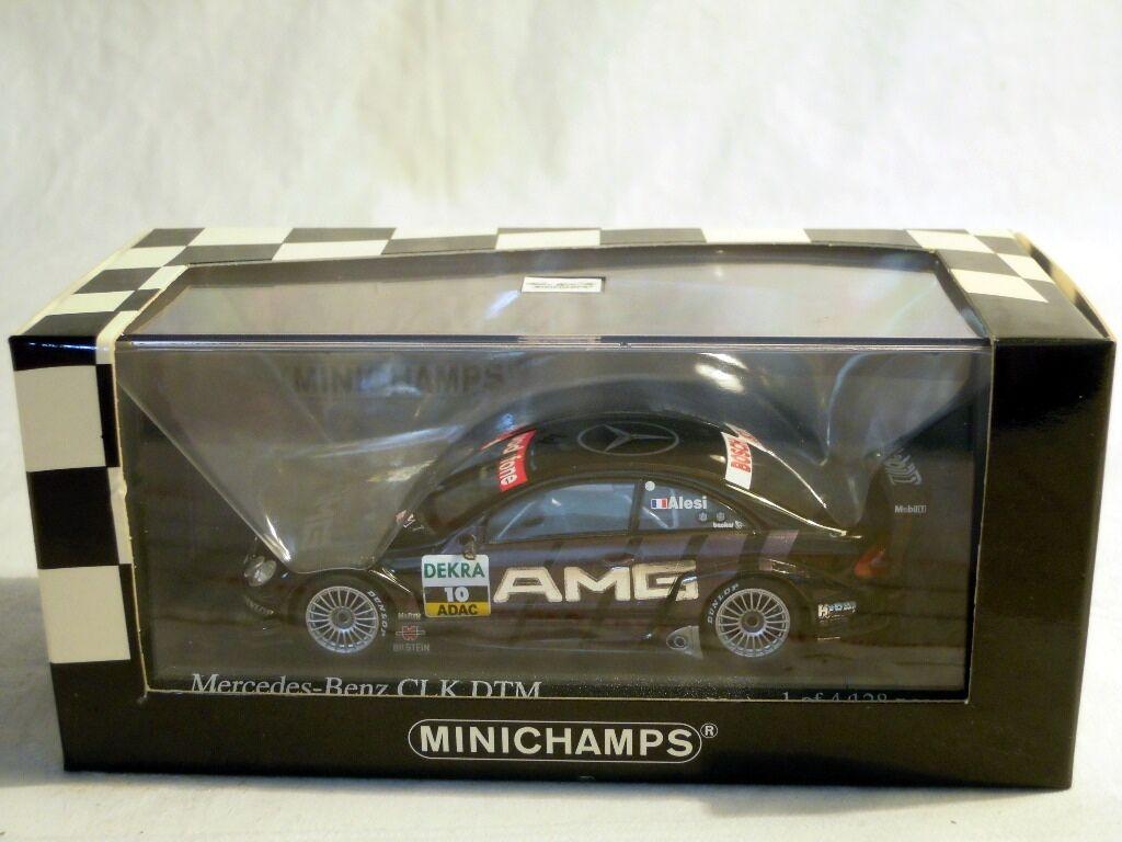 Minichamps 400033310: MERCEDES CLK Coupé, DTM 2003, AMG #10 J. Alesi, NUOVO & OVP