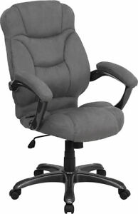 Enjoyable Details About Grey Microfiber Fabric Computer Office Desk Chair Pdpeps Interior Chair Design Pdpepsorg