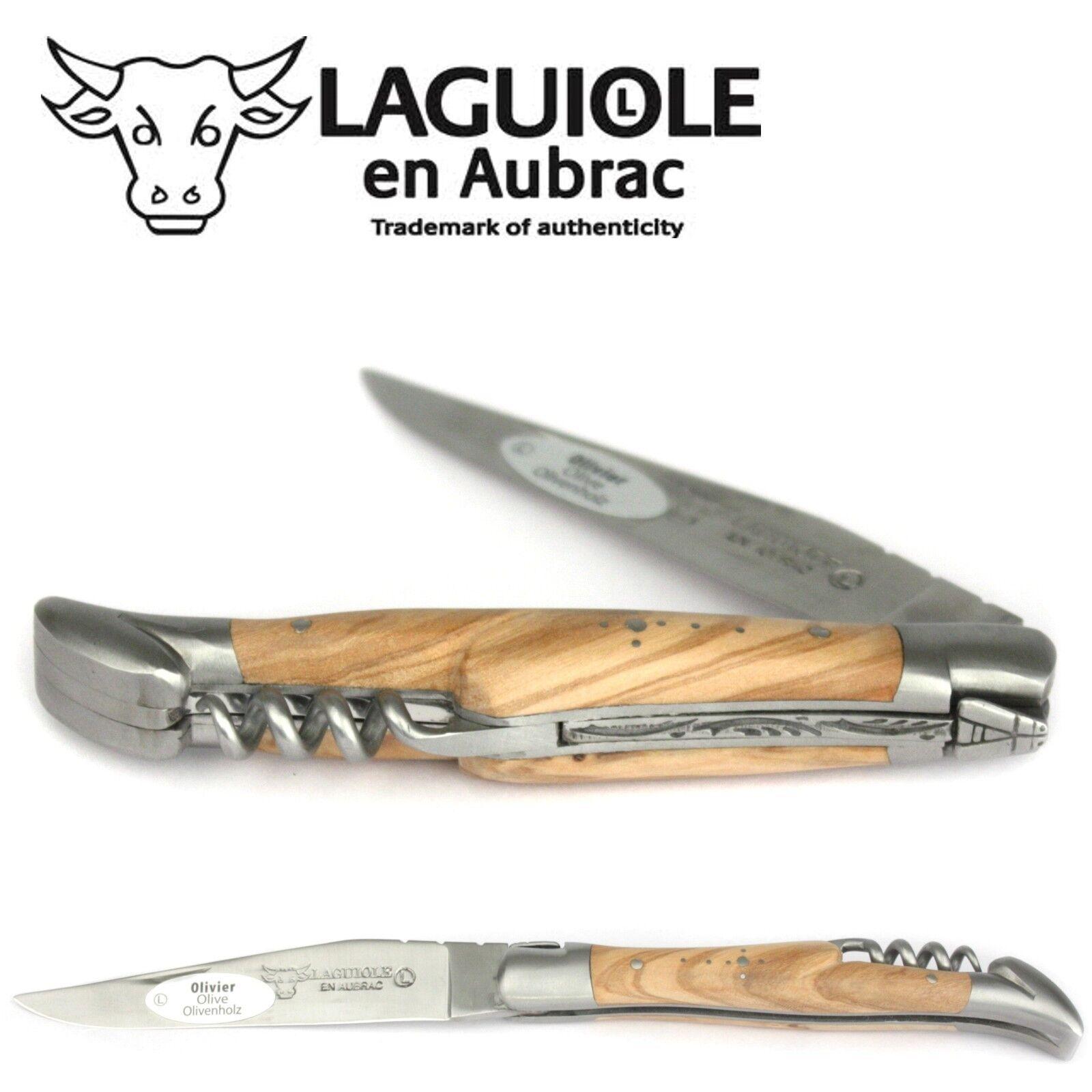 Laguiole en Korkenzieher Aubrac Taschenmesser L0311OLIS 11 cm Olivenholz Korkenzieher en Messer 8e98eb