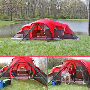 Image is loading C&ing-Tent-10-Person-Large-Cabin-Easy-Setup- & Camping Tent 10 Person Large Cabin Easy Setup Family Shelter ...