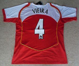 NUOVO-con-etichetta-034-PATRICK-VIEIRA-4-039-Nike-Arsenal-2004-5-HOME-amp-F-A-COPPA-DELLE-COPPE