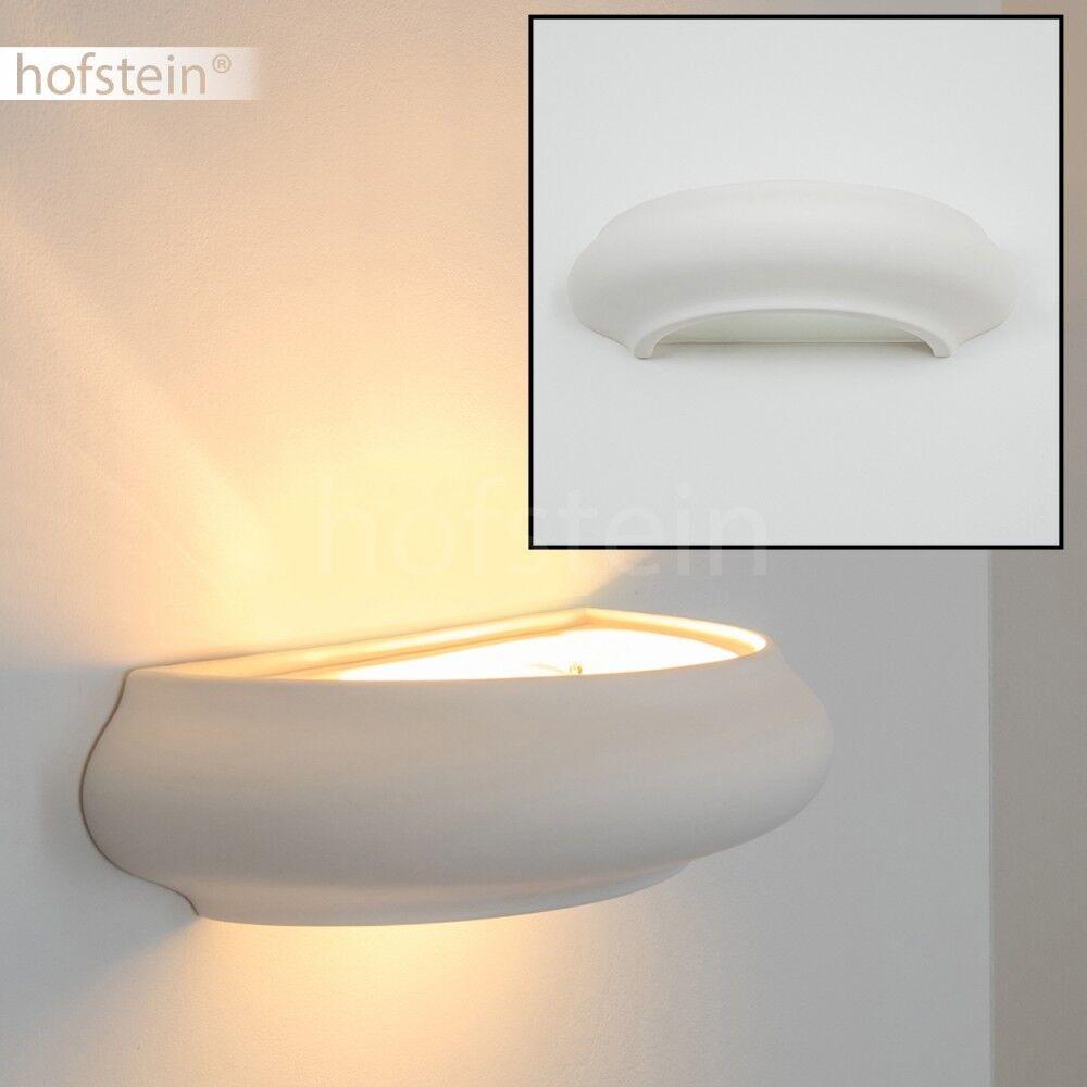 Bemalbare Wandlampe Design Leuchte Flur Schlaf Wohn Ess Zimmer Strahler weiß