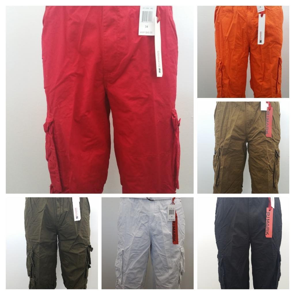 US Seller New Men's PJ Mark Cargo Shorts with Belt Size 32,34,36,38,40,42,44