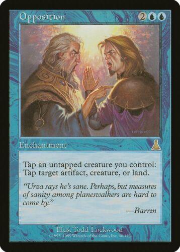 Opposition Urza/'s Destiny HEAVILY PLD Blue Rare MAGIC GATHERING CARD ABUGames