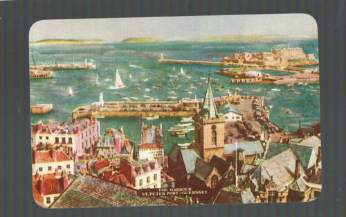 Playing Swap Cards 1 VINT CITY HARBOUR VIEW  ST PETER PORT  GUERNSEY SAILING W35