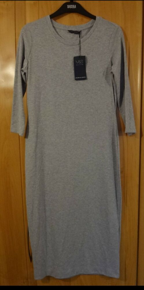 M & S Extensible Robe Taille 12 Regular Bnwt