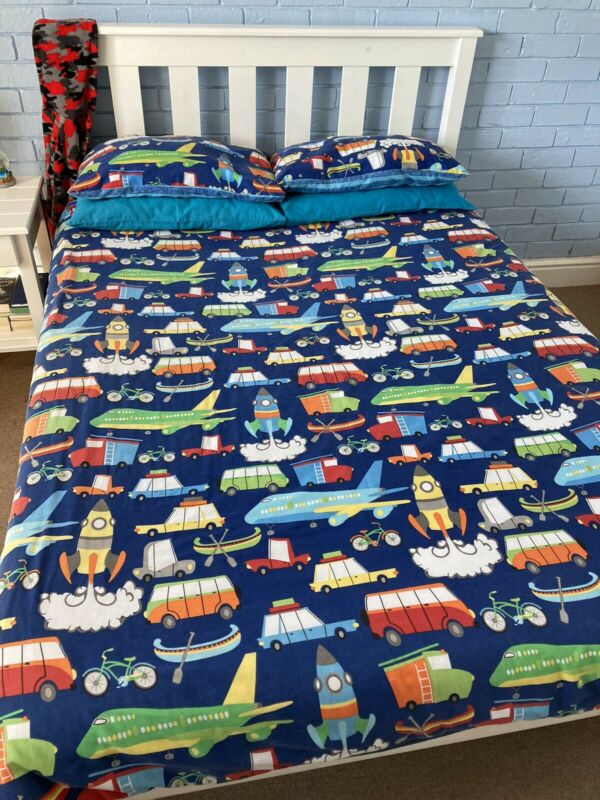 Pine Double Bed Incl mattress