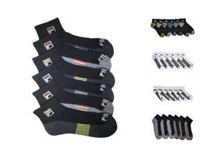 6-Pairs-Fila-Men-039-s-Athletic-Classic-Sport-Absorb-Dry-Gym-Quarter-Socks-Size-6-12