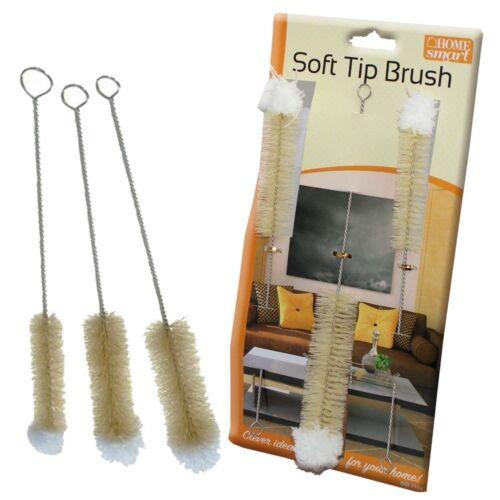 3 Frasco Cepillos Limpiador cristales punta larga suave de limpieza esponja de bebé esterilización