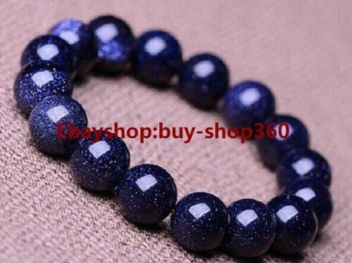 "Pretty 6-12mm Natural Blue Galaxy Staras Sand Sun Sitara Stretch Bracelet 7.5/"""