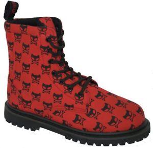 Inamagura Boot 7 Loch 11F1000 Red + Black Cat