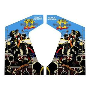 Double Dragon 2 The Revenge Side Art Decals Brand New Arcade