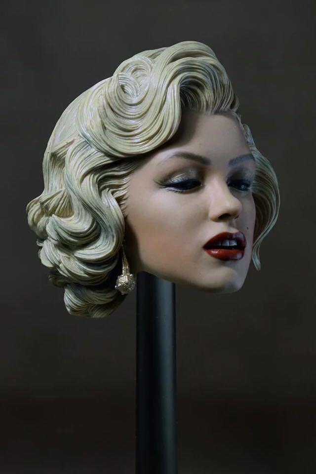 1 6 Scale Marilyn Marilyn Marilyn Monroe Head Sculpt Painted F 12'' Female Hot Toys Phicen Body 60a988