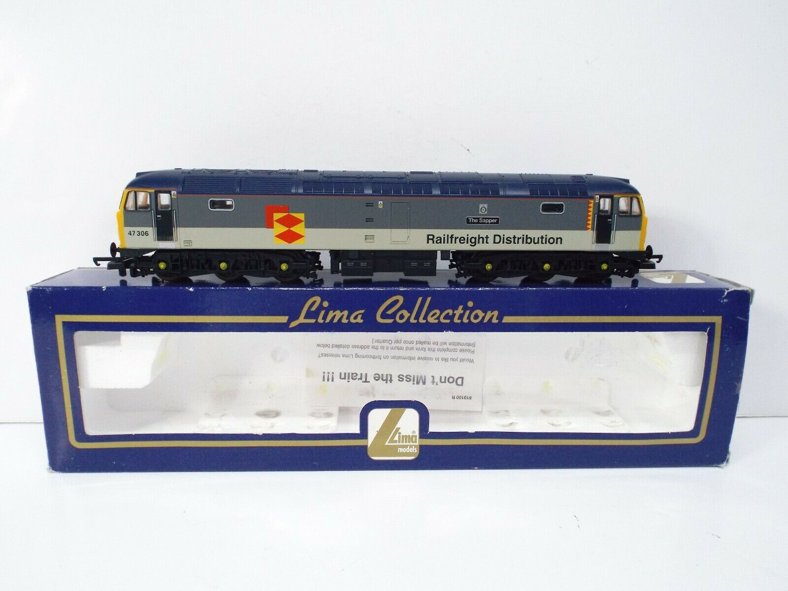 LIMA 204903 DIESEL RAILFREIGHT DISTRIBUTION classe 47306 EXCELLENT scatolaED OO1123