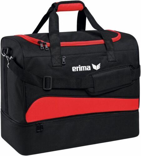 Erima Club 1900 2.0 Borsa sportiva con Scomparto Pavimento Nero Rosso Donna Uomo Bambini