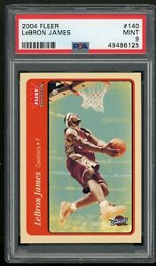 LeBRON JAMES 2004 Fleer Tradition #140, 2nd Year, Los Angeles Lakers, PSA 9 MINT