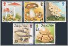 Isle of Man 650-654,655,MNH.Michel 650-654,655 Bl.24. Mushrooms 1995.