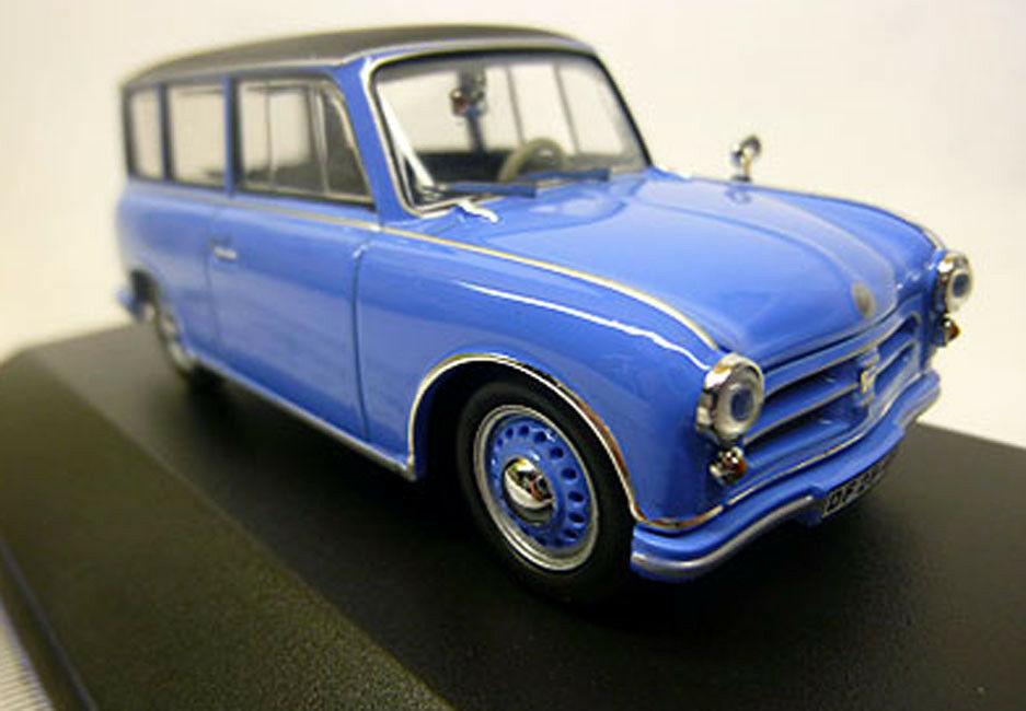 Ixo es 172 1 43 Zee p70 coche familiar 1957 azul RDA GDR