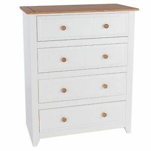 Drawer Chest Avalon White Painted Pine Bedroom Furniture EBay