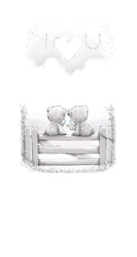 oblongo-Tatty Teddy Me to You-Susurros tarjeta Te amo.